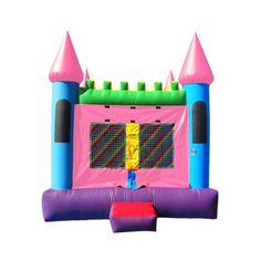Commercial Pink Castle 2 Bounce House #sale #commercialinflatables #bouncehouse