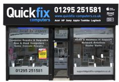 """Quickfix Computers Ltd is a privately owned IT Support company operating from our head office in Banbury, Oxfordshire.  T: Banbury 01295 251581 T: Redditch 01527 509100"""