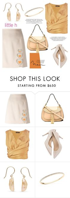 """""""Coral pink by Little h Jewelry"""" by littlehjewelry ❤ liked on Polyvore featuring мода, Christopher Kane, Chloé и The Row"""