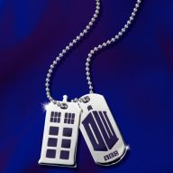 Doctor Who 50th Anniversary Sterling Silver Dog Tags