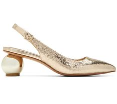 Katy Perry Metallic Slingback Pumps - The Adora — QVC.com