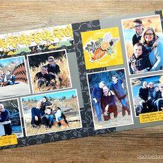 Gather Together: One Sketch Three Ways - Creative Scrapbooker Recipe Scrapbook, 12x12 Scrapbook, Disney Scrapbook, Scrapbook Sketches, Scrapbook Page Layouts, Scrapbook Supplies, Scrapbooking Ideas, Bridal Shower Scrapbook, Fall Projects