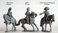 FN14 Mounted Generals of Division (Prince Jerome Bonaparte, II Corps, Quiot, I Corps and Marcognet, I Corps)