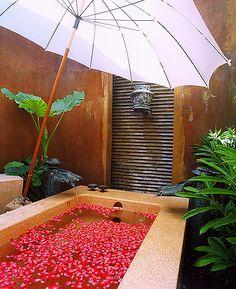 There's always time for a flower petal bath, ooh la la! #KiwiBeMine @Kiwi Collection #romance