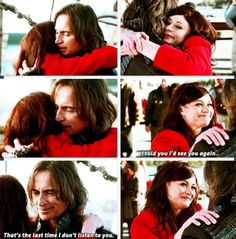 "Belle: ""I told you I'd see you again."" Rumple: ""That's the last time I don't listen to you."""