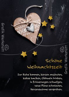 Schöne Weihnachtszeit - Postkarten - Grafik Werkstatt Bielefeld Christmas Words, Christmas Quotes, Christmas Gift Tags, Vintage Christmas Cards, Little Christmas, Christmas Wishes, Xmas Cards, Christmas Greetings, Christmas And New Year