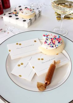 """save room for dessert"" place cards"