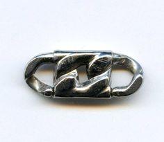 Vtg LINKLOK KT Pat Pend Curb Link Chain Jewelry Locking ConnectingClasp Linklock