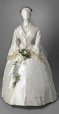 Wedding dress, 1865