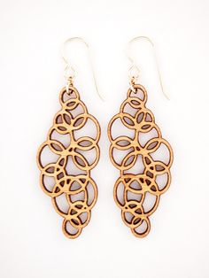 Water Drops - Large, Laser Cut Earrings. $44.00, via Etsy.