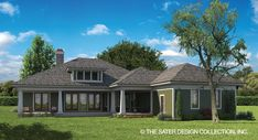 Rear Elevation | The Glenfield House Plan | Home Plan Barn House Plans, Craftsman Style House Plans, Luxury House Plans, Southern House Plans, Country House Plans, Covered Back Porches, Decorating A New Home, Custom Home Plans, Open Living Area