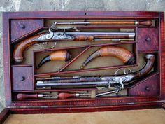 Jud Brennan dueling pistol set.