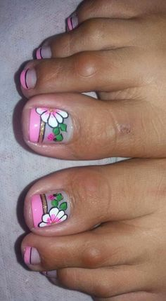 Cute Toe Nails, Cute Toes, Toe Nail Art, Gel Nails, Cute Pedicure Designs, Nail Art Designs, Cute Pedicures, Flower Nail Art, Gorgeous Feet