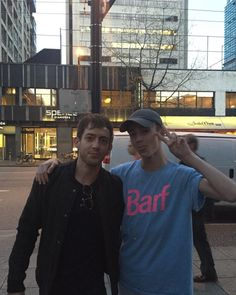 """Kevin with a fan in Vancouver [Source] "" Kevin Mchale, Vancouver, Fan, News, Fans"