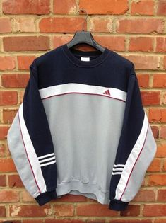 Wheretoget - Grey, and navy Adidas sweatshirt