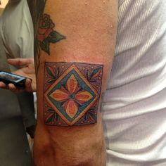 Mexican Tile Tattoo
