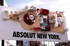 Title: Absolut New York. Client: Absolut Vodka. Agency: TBWA\Chiat\Day
