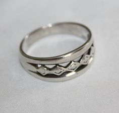 Engagemnet Sterling Ring Band 1960s Jewelry by patwatty on Etsy, $25.00