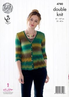 285996071e900 King Cole Riot DK Pattern 4780 - Sweater   Cardigan