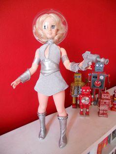 Retro Space girl doll by alexmadalton