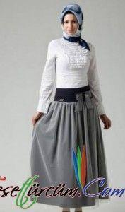 2014 Tesettür Etek Modelleri Victorian, Skirts, Dresses, Fashion, Fashion Styles, Dress, Fashion Illustrations, Skirt, Moda