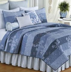 Misty Quilt & Accessories C | Tropical, Seashell & Beach Bedding, Quilts, Duvets and Comforter Sets | PaulsHomeFashions.com