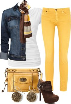 """Colored Jeans 2"" by melindatg on Polyvore"