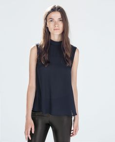ZARA - WOMAN - TOP WITH JEWEL BUTTONS AT THE BACK