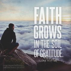 Faith grows in the soil of gratitude.