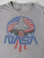 NASA USA Flag Space Shuttle Men's Officially Licensed Shirt by Gap LG