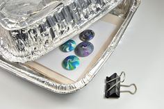 Protect your polymer clay during baking. Learn more polymer clay tips for beginners at The Blue Bottle Tree.