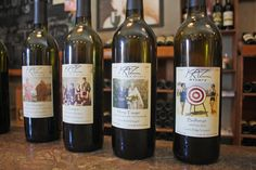 Kaz Winery and labels.