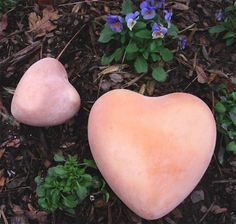 """Handcrafted clay heart for home or garden. Unique hearts are equally suited indoors or in the garden. Hand crafted of fine clay, they're quality pieces to last or years of use. Measures 8.3"""" X 8.3"""" x"""