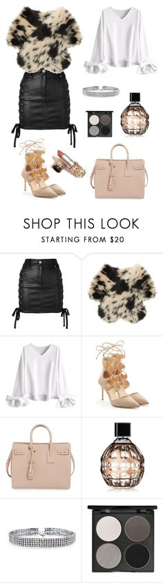 """""""Untitled #254"""" by roxana20 on Polyvore featuring Versus, Shrimps, Giuseppe Zanotti, Yves Saint Laurent, Jimmy Choo, Bling Jewelry and Gorgeous Cosmetics"""