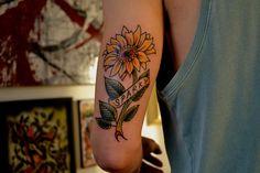 Sunflower Tattoo Designs | Realistic Sunflower Tattoo Designs