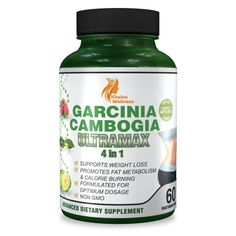 Garcinia Cambogia Weight Loss Supplement by Khalsa Wellness - 60 Tablets - Safe and Effective with 60% HCA - 100% Pure Premium Extract for Fast Fat Loss - Non-GMO, Gluten-Free and Vegetarian Safe ** Additional info @ : Garcinia cambogia