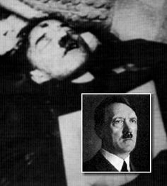 """Russian photo of """"Hitler Corpse"""" May 2, 1945"""