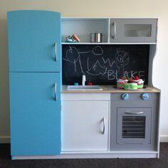 Kmart kids kitchen hack #kmart #kidskitchen #kmarthack #playroom #chalkboard #hack