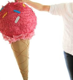 Who wouldn't want an ice cream cone pinata at their next party? It's cute…