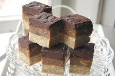 Vegan Peanut, Caramel & Chocolate Slices from Gluten-Free-Vegan-Girl