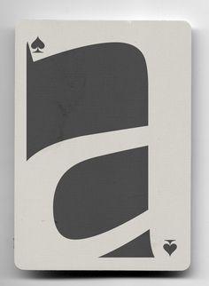 as de picas (elemental). baraja tipográfica