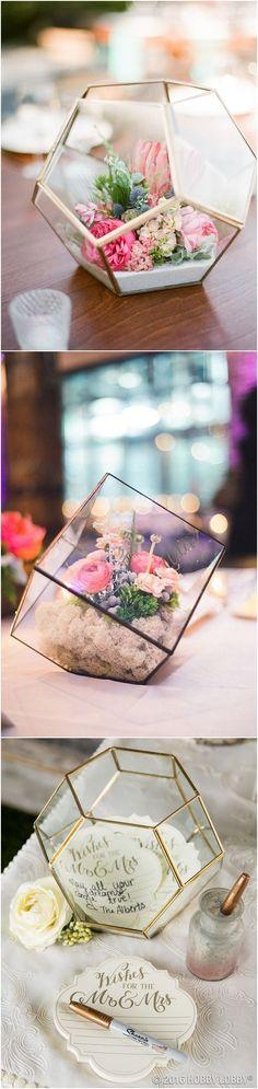 Glam Geometric & Terrarium Wedding Ideas #bohoweding #weddings #wedidngideas