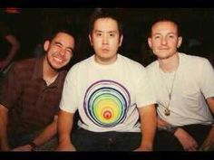 Mike with a Cheesy smile, Joe in a trance & Chester looking adorable