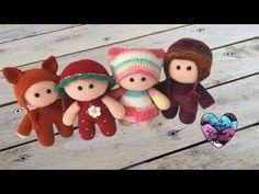 Amigurumi Poupons YOYO crochet 1/2 / YOYO mini dolls crochet amigurumi (english subtitles) - YouTube