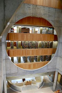 Louis I. Kahn (1901-1974) was the architect of the library (1965-1972) at Phillips Exeter Academy in Exeter, New Hampshire.