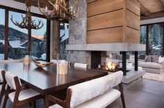 Reed Design Group LLC is a full service interior design firm located in the Vail Valley of Colorado. Elisabeth Reed brings her knowledge of interior architecture to bear in the art of interior design. Rustic Contemporary, Contemporary Interior, Modern Interior Design, Interior Architecture, Contemporary Apartment, Contemporary Garden, Modern Rustic, Chalet Design, House Design