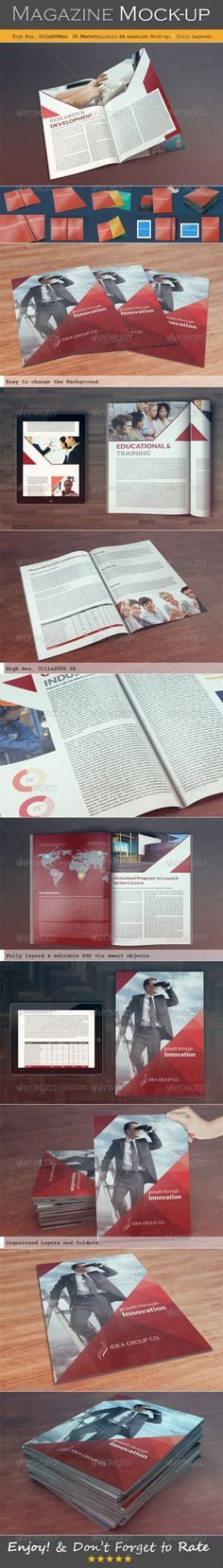 Magazine Mock-up:  http://graphicriver.net/item/magazine-mockup/6385786?WT.ac=portfolio&WT.seg_1=portfolio&WT.z_author=MahmoudRafik?ref=mahmoudrafik