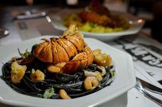 Lobster | Lagosta | Tagliarini | Talharim negro | Review: A revolução gourmet do Ça-Vá Gastrobar, em São Luís/MA