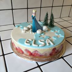 Fraisier La reine des neiges pour Elsa