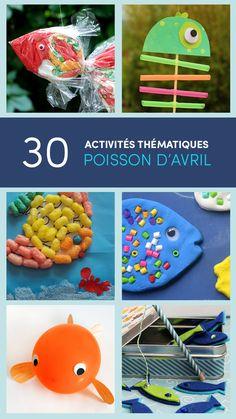 + de 30 activités à imprimer et bricolages thématiques poisson d'avril 2016!